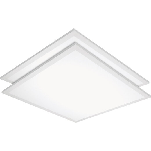 Satco Nuvo LED Flat Panel Grid Light Fixture