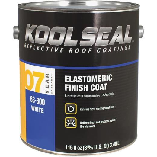 Kool Seal 1 Gal. 7-Year White Acrylic Elastomeric Roof Coating