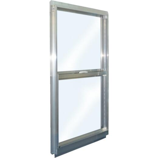 Croft Series 90 35 In. W. x 47 In. H. Mill Finish Aluminum Single Hung Window