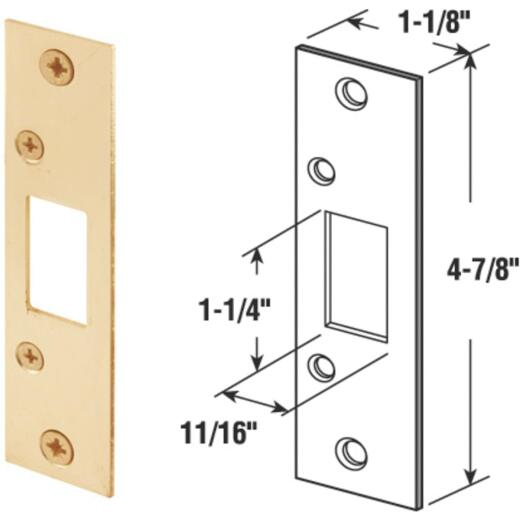 Defender Security Brass 1-1/4 In. Security Strike Plate