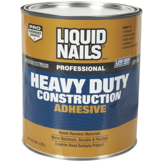 Liquid Nails 1 Gal. Professional Heavy Duty VOC Construction Adhesive