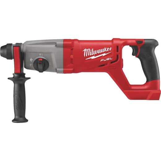 Milwaukee M18 FUEL 18 Volt Lithium-Ion Brushless SDS-Plus D-Handle Cordless Rotary Hammer Drill (Bare Tool)