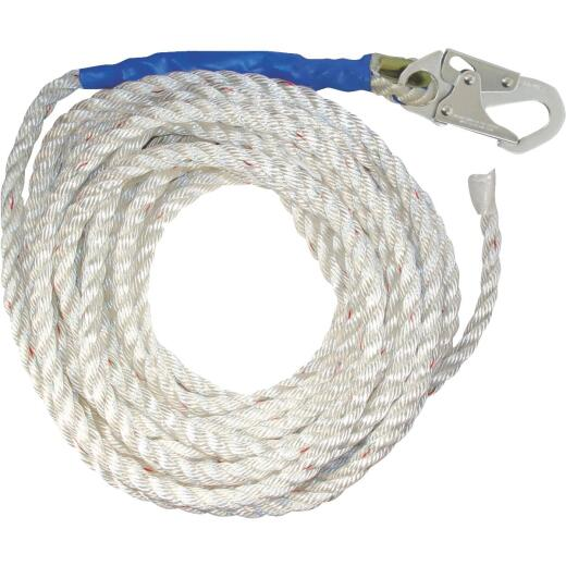 Fall Tech 5/8 W. In. x 50 Ft. L. Premium Polyester Lifeline
