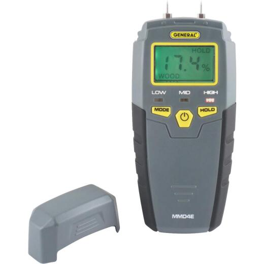General Tools Moisture Meter with LCD Display