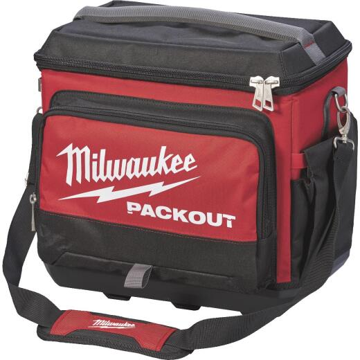 Milwaukee PACKOUT Black/Red Soft-Side Cooler (5-Compartment)