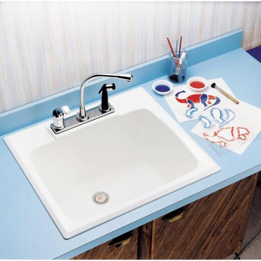 Mustee Drop-In 17 Gallon 22 In. x 25 In. Countertop Sink Tub