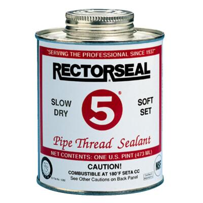 Rectorseal No. 5 4 Fl. Oz. Yellow Pipe Thread Sealant