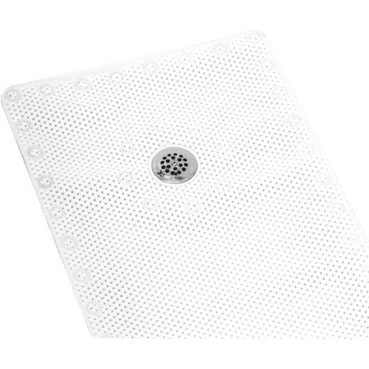Zenith 24 In. x 24 In. White Shower Mat
