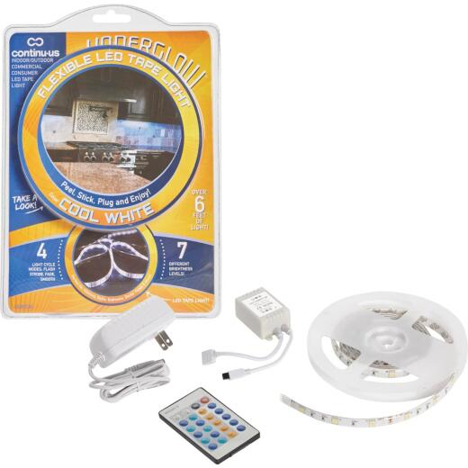 Continu-us Underglow 20 In. Plug-In Cool White LED Under Cabinet Light