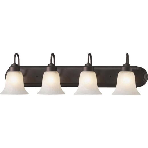 Home Impressions Julianna 4-Bulb Oil Rubbed Bronze Vanity Bath Light Bar