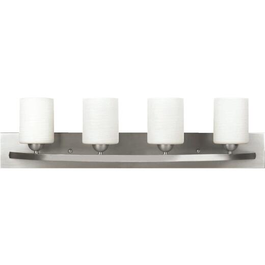 Home Impresssions Hampton 4-Bulb Brushed Nickel Bath Light Bar