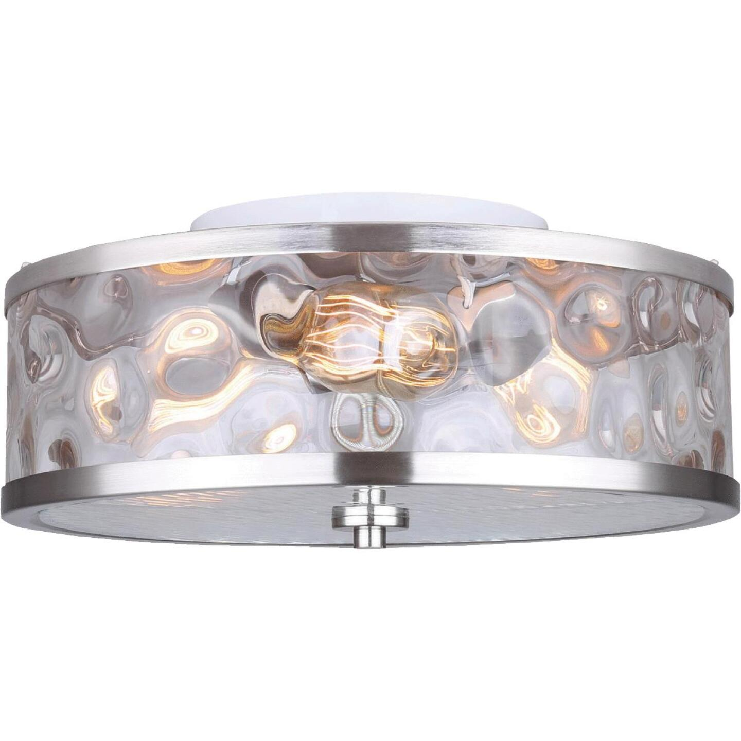 Home Impressions Cala 16 In. Brushed Nickel Incandescent Flush Mount Light Fixture Image 1