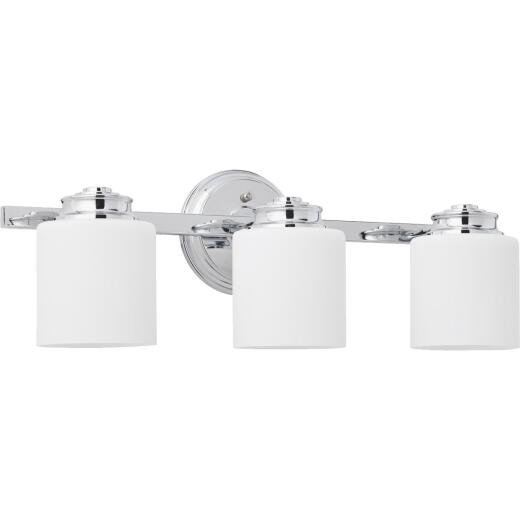 Home Impressions Crawford 3-Bulb Polished Chrome Bath Light Bar
