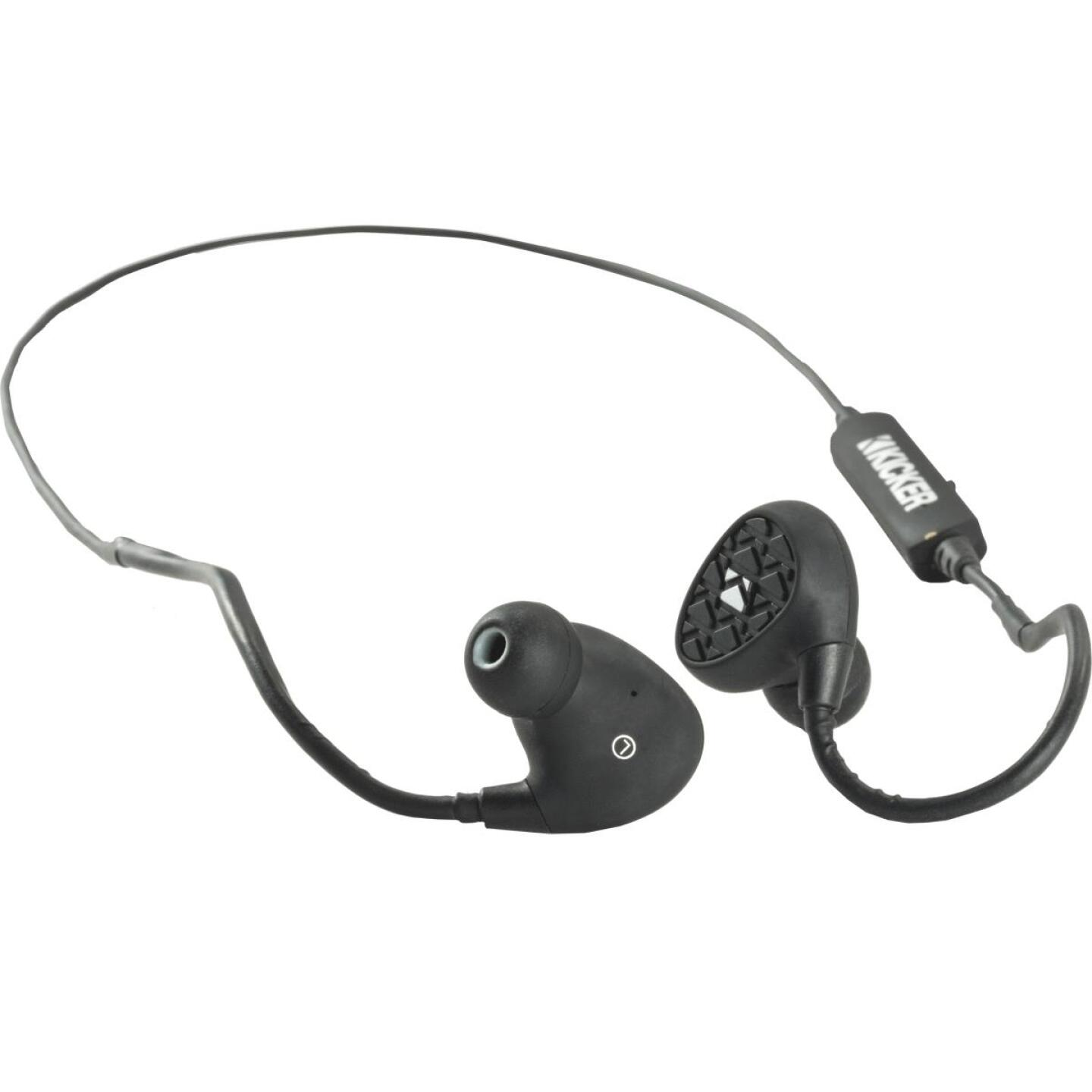 Kicker EB400 Waterproof Bluetooth Black Earbuds Image 2