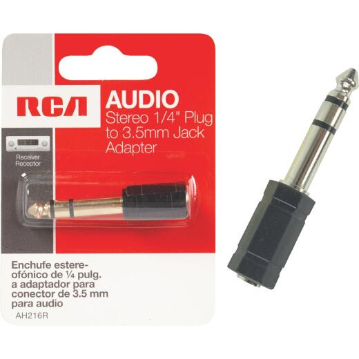 RCA 1/4 In. Plug to 3.5mm Jack Adapter Audio Adapter