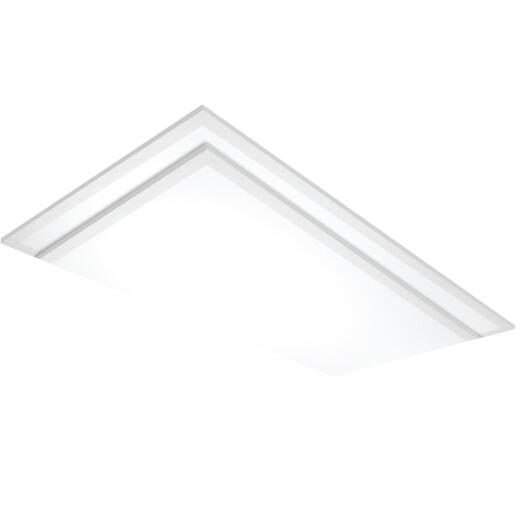 Satco Nuvo 2 Ft. x 4 Ft. 4000K 4968-Lumen LED Flat Panel Grid Light Fixture (2-Pack)