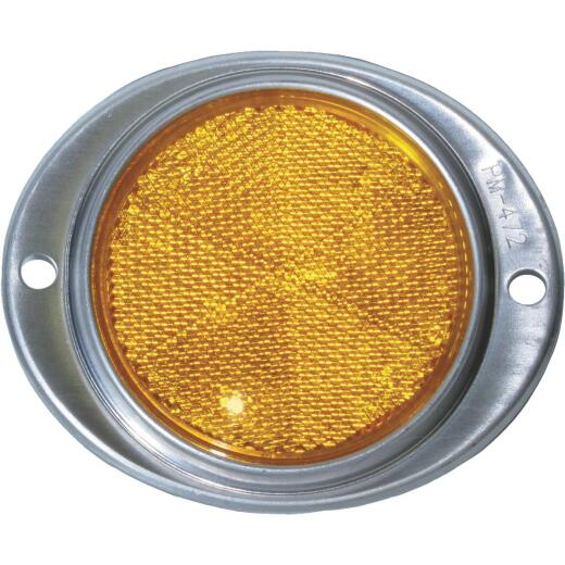 Peterson 3 In. Dia. Amber Oval Reflector