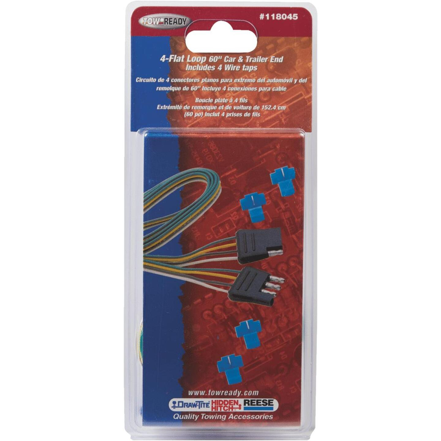 Reese Towpower 4-Flat Loop 48 In. Vehicle/12 In. Trailer Connector Set with Splice Connectors Image 2