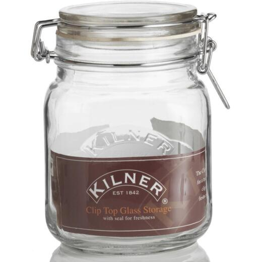 Kilner 34 Oz. Square Clip Top Glass Storage Jar