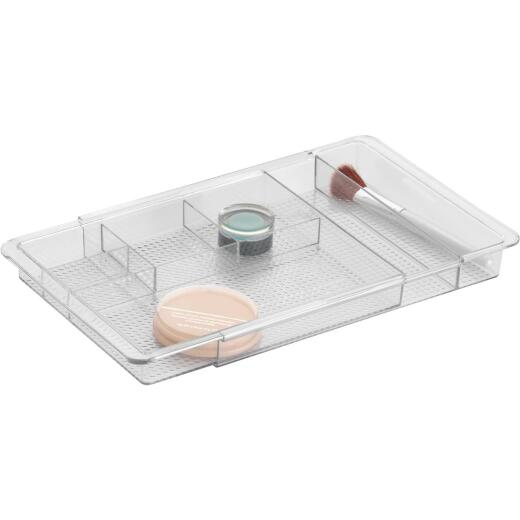 InterDesign Clarity 7.75 In. x 1.25 In. x 19 In. Clear Expandable Drawer Organizer