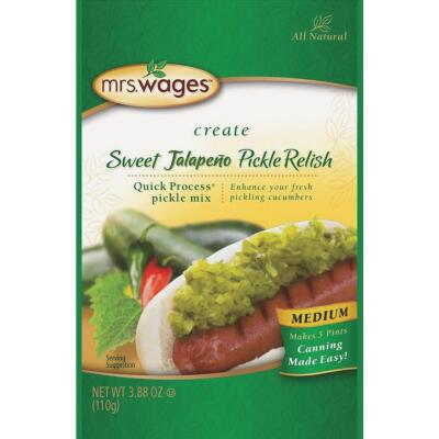 Mrs. Wages Quick Process 4 Oz. Jalapeno Pickle Relish Pickling Mix