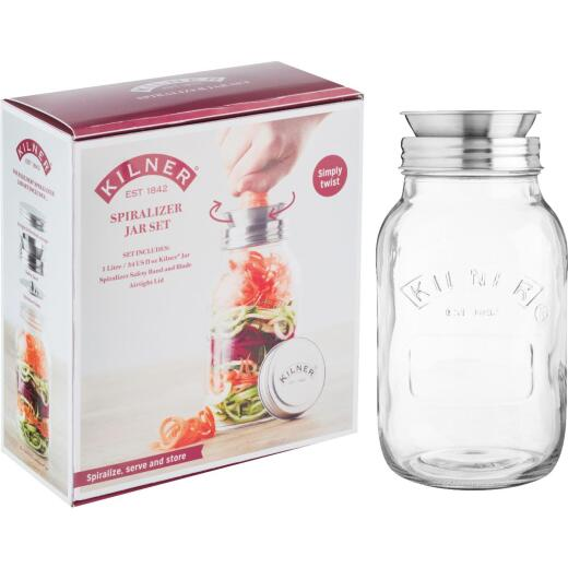 Kilner 34 Oz. Spiralizer Glass Storage Jar Set