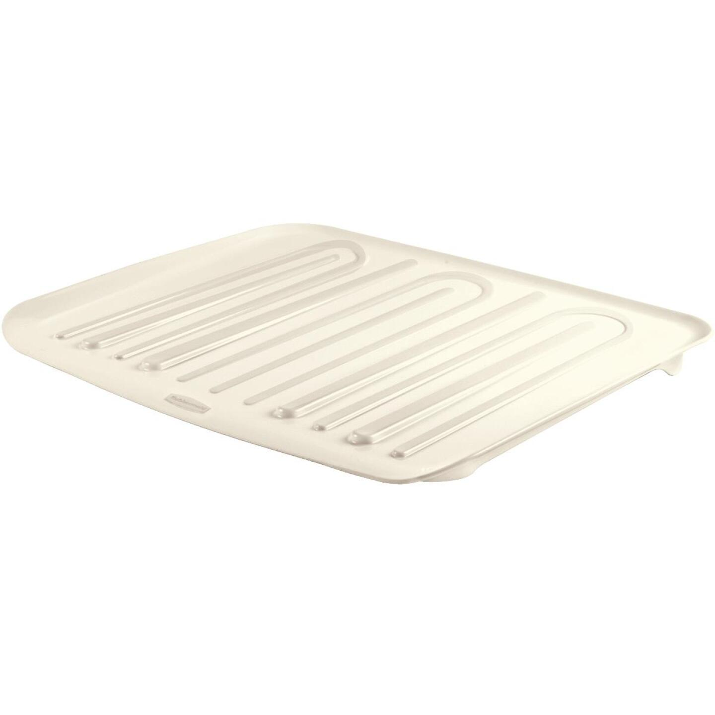 Rubbermaid 14.7 In. x 18 In. Bisque Sloped Drainer Tray Image 2