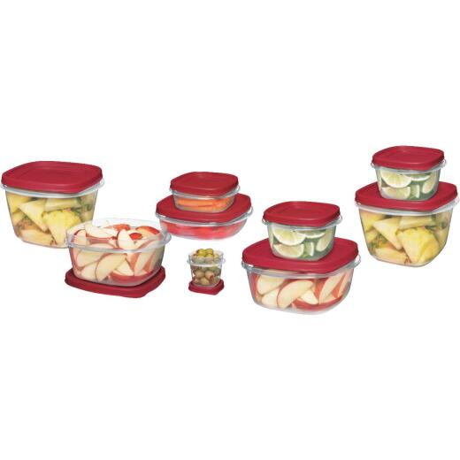 Rubbermaid Easy Find Lids 24-Piece Clear Food Storage Container Set