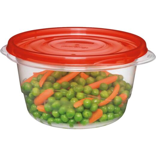 Rubbermaid TakeAlongs 3.5 C. Clear Round Food Storage Container with Lids (4-Pack)