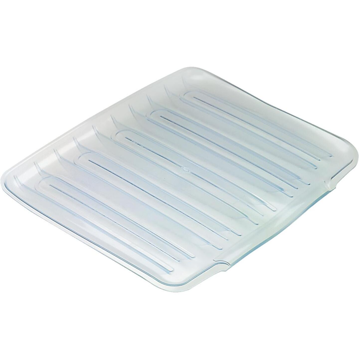 Rubbermaid 14.38 In. x 15.38 In. Clear Sloped Drainer Tray Image 1