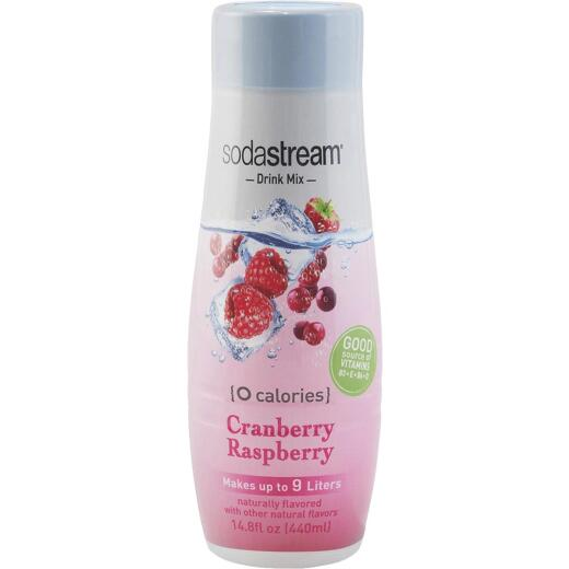 SodaStream 14.8 Oz. Cranberry Raspberry Zeros Waters Sparkling Beverage Mix