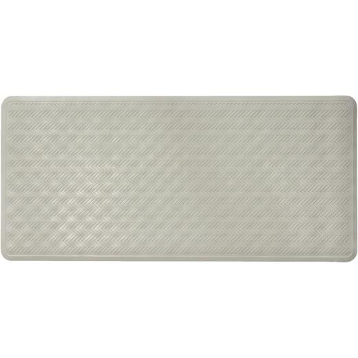 iDesign Chelsea 17 In. x 36 In. Gray Rubber Bath Mat