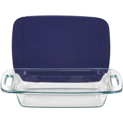 Pyrex Easy Grab 2 Qt. Glass Oblong Baking Dish with Lid