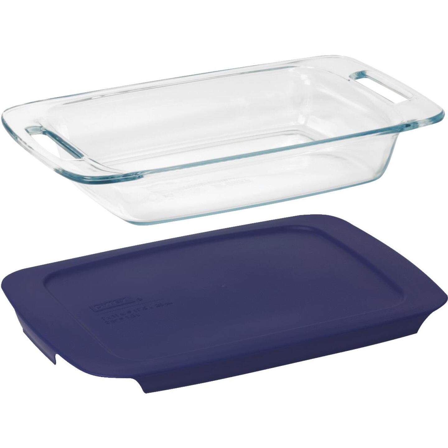 Pyrex Easy Grab 2 Qt. Glass Oblong Baking Dish with Lid Image 2