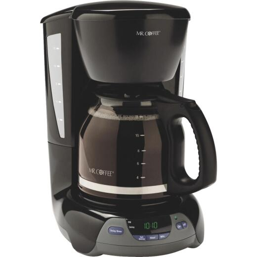 Mr Coffee 12 Cup Auto Shutoff Programmable Black Coffee Maker