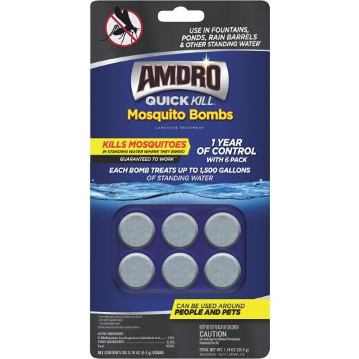 Amdro Quick Kill 6-Pack Ready To Use Tablet Mosquito Bombs