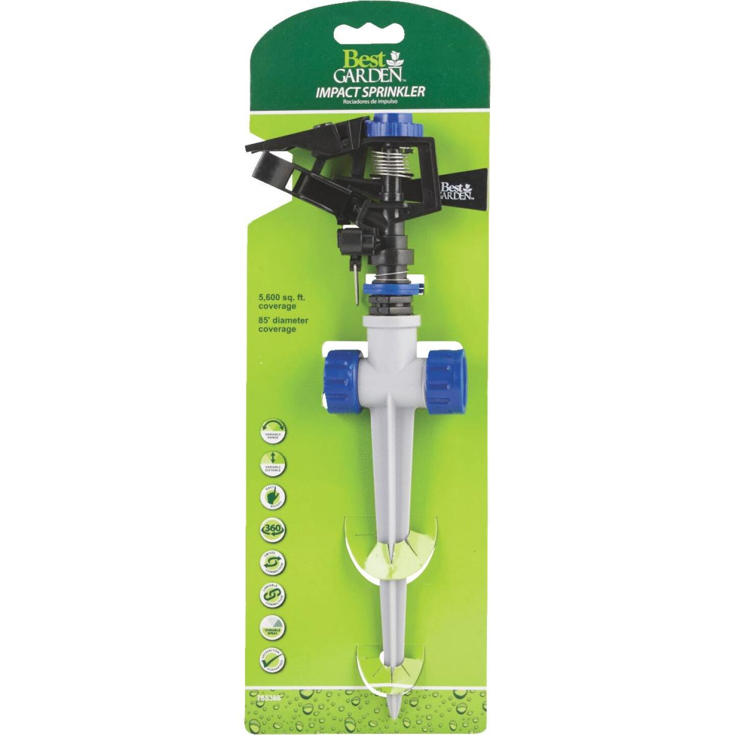 Best Garden Poly 5600 Sq. Ft. Spike Impulse Sprinkler Image 2
