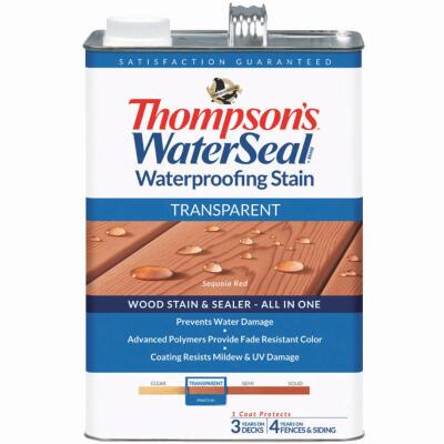 Thompsons WaterSeal Transparent Waterproofing Stain, Sequoia Red, 1 Gal.
