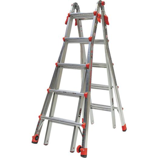 Little Giant Velocity 22 Ft. Aluminum Telescoping Ladder With 300 Lb. Load Capacity Type IA Duty Rating