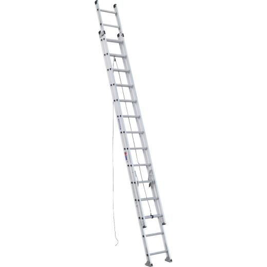Werner 28 Ft. Aluminum Extension Ladder with 300 Lb. Load Capacity Type IA Duty Rating
