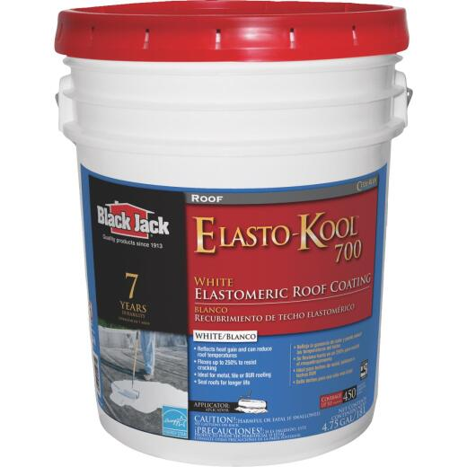 Black Jack Elasto-Kool 700 5 Gal. 7-Year White Siliconized Elastomeric Coating