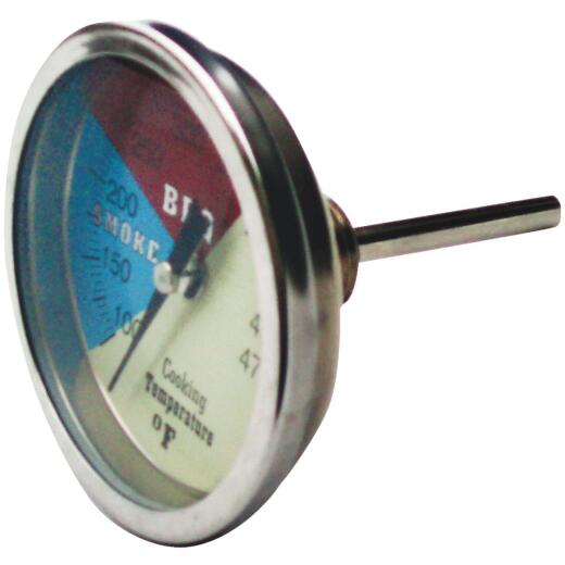 Old Smokey Products Analog 3 In. Stainless Steel Temperature Gauge Thermometer