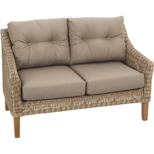 Cambria 2-Person 51 In. W. x 31 In. H. x 29 In. D. Wicker Loveseat