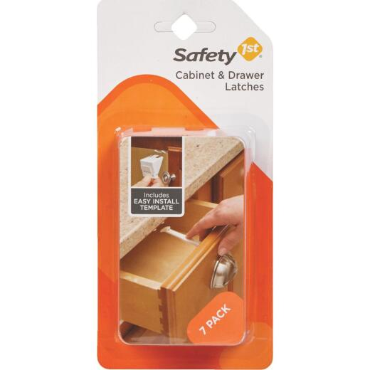 Safety 1st White Plastic Cabinet & Drawer Latches (7-Count)
