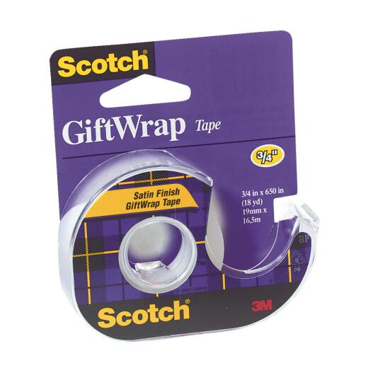 3M Scotch 3/4 In. x 650 In. Gift-Wrap Transparent Tape